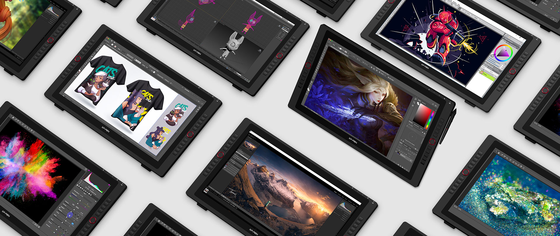 tableta digitalizadora XP-Pen Artist 24 Pro compatible con Windows , MAc OS y software de arte digital popular