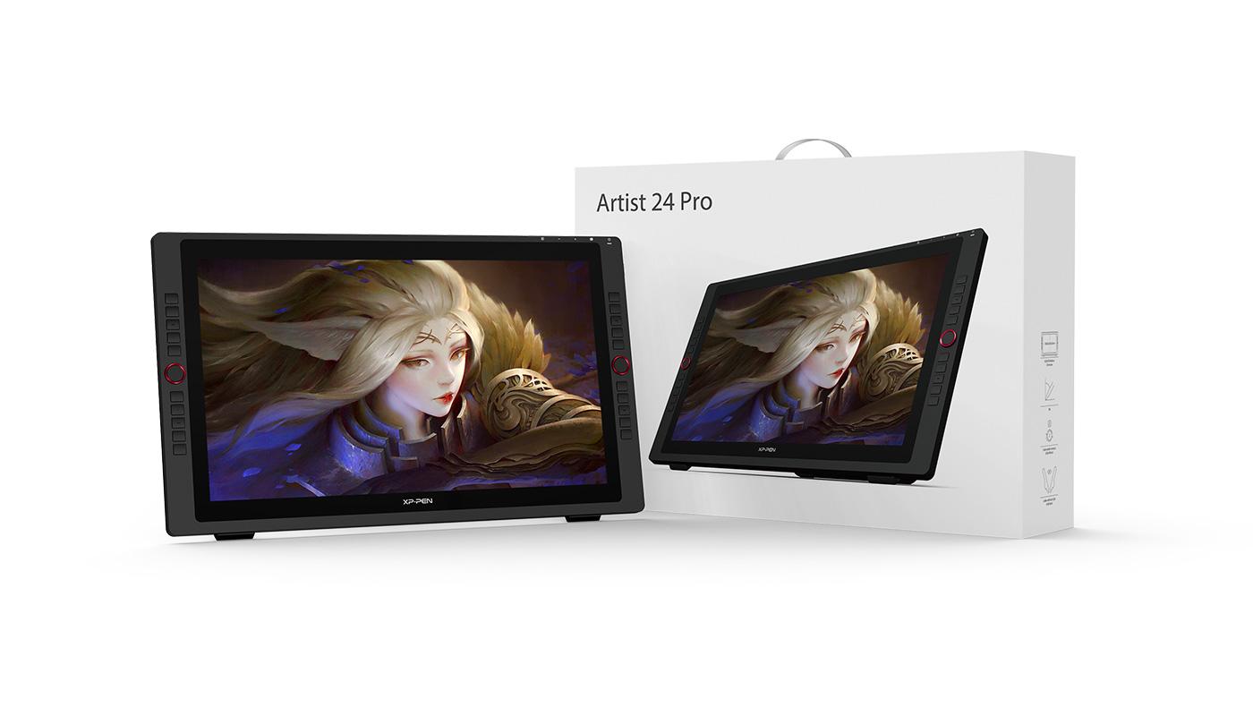 tableta gráfica profesional con pantalla XP-Pen Artist 24 Pro