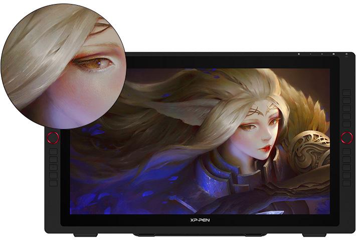 tableta digitalizadora XP-Pen Artist 24 Pro con una pantalla grande de 23,8 pulgadas de 2K QHD