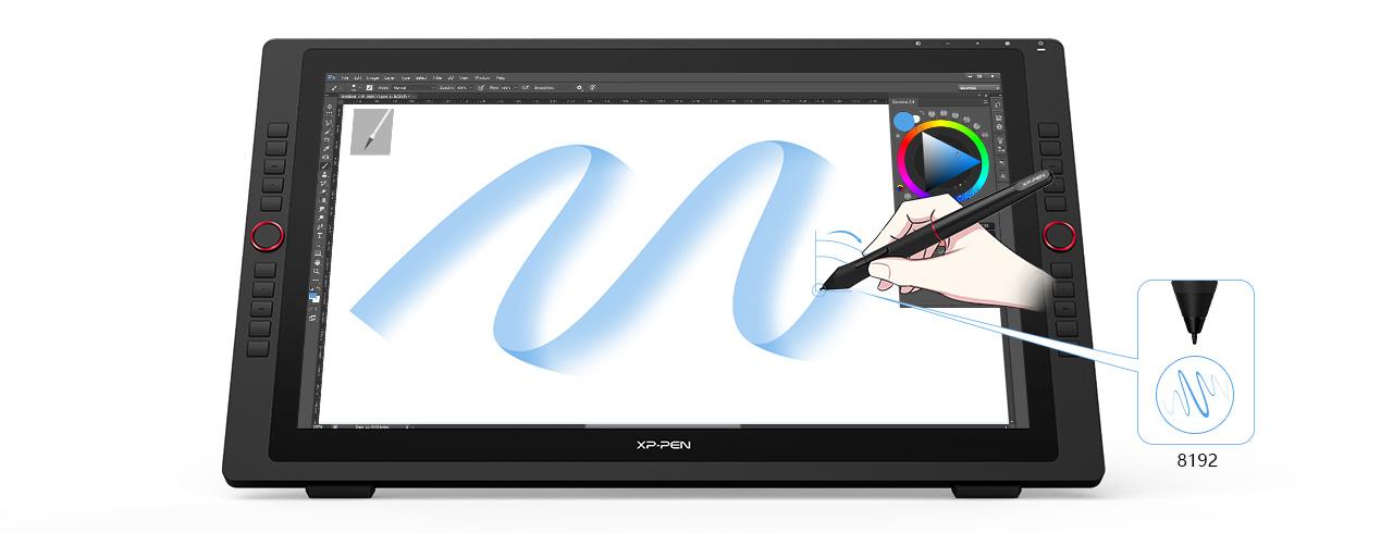tableta XP-Pen Artist 24 Pro con la función de inclinación y presión de la PA2 Stylus sin batería