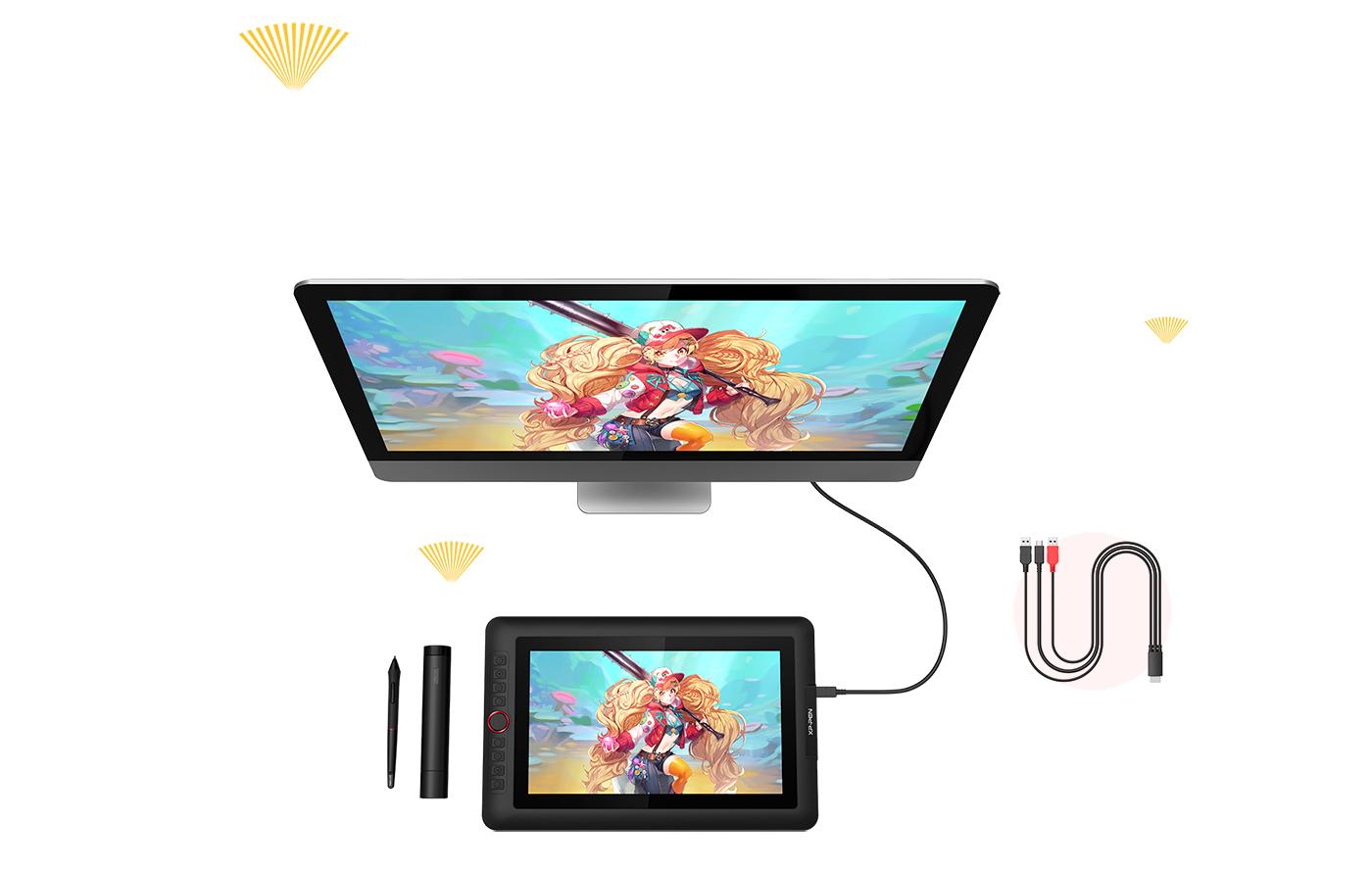 XP-Pen Artist 13.3 Pro Tableta gráfica con pantalla portátil 13.3 pulgadas