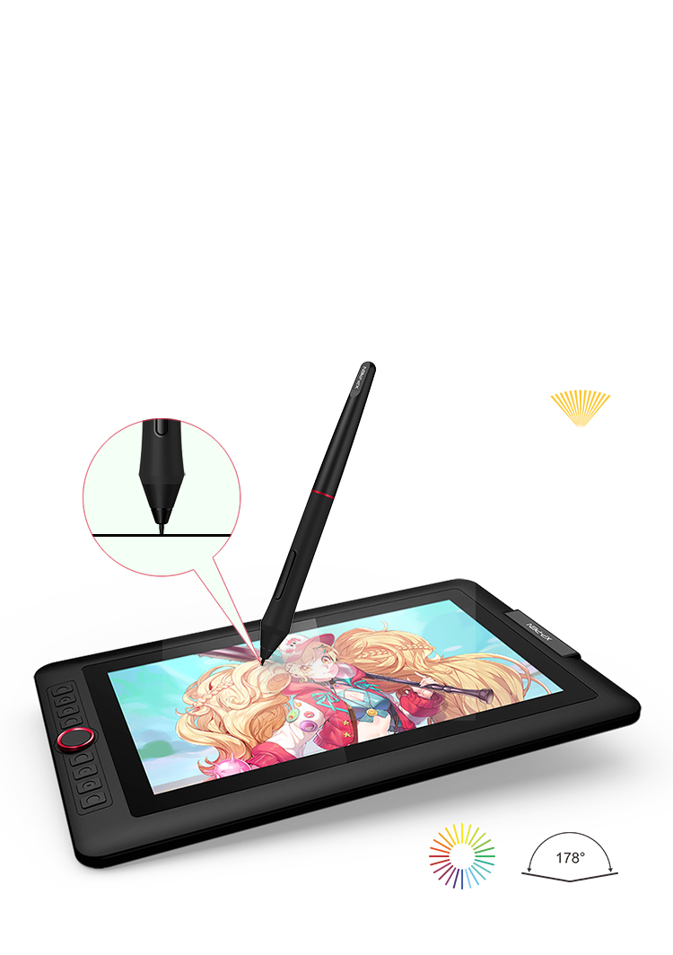 XP-Pen Artist 13.3 Pro Tableta Con pantalla totalmente laminada y color de 88% NTSC
