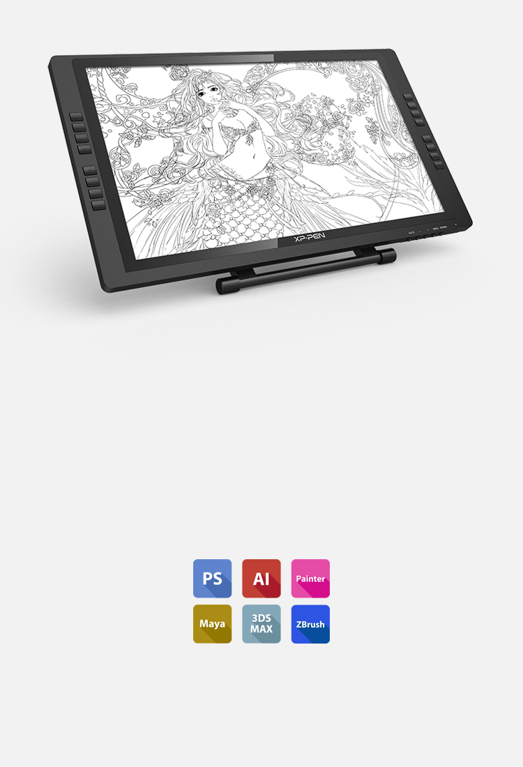 XP-Pen Artist 22E Pro Tableta Compatible Windows y Mac OS y programas de dibujo photoshop y  illustrator