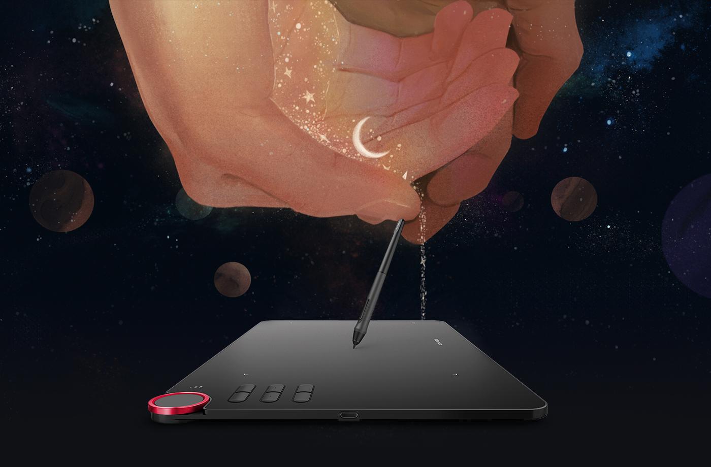 Diseño Maravilloso Con Tableta gráfica inalámbrica XP-Pen Deco 03