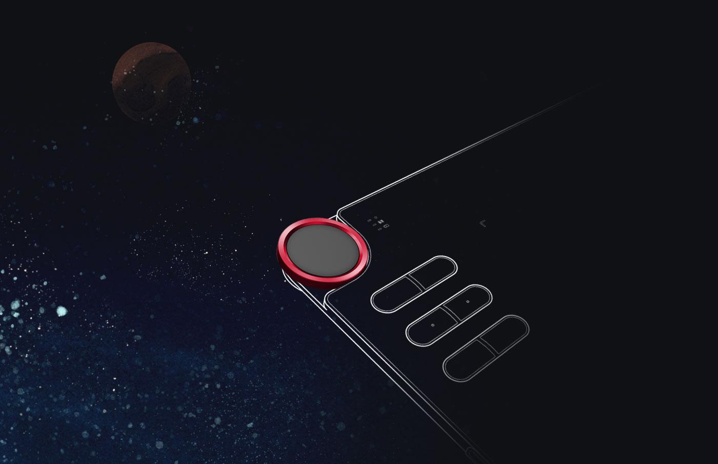 XP-Pen Deco 03 Tableta Con Un Dial Rojo Multifuncional Maravilloso