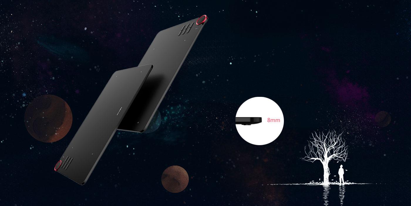 Deco 03 Tablet Con Ultra delgado solo 8 mm de grosor y ergonómicamente diseñado