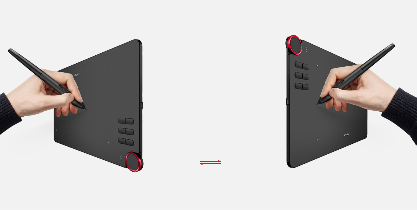 XP-Pen Deco 03 Tableta gráfica inalámbrica Diseñado para usuarios diestros y zurdos