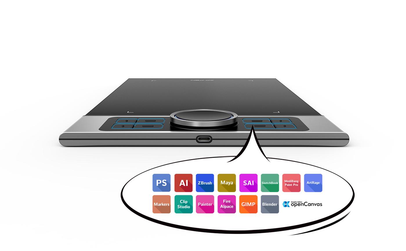 XP-Pen Deco Pro tableta para dibujar Con 8 teclas express personalizables