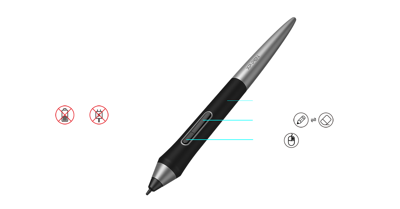 El nuevo lápiz PA1 no tiene batería y Sin necesidad de cargar