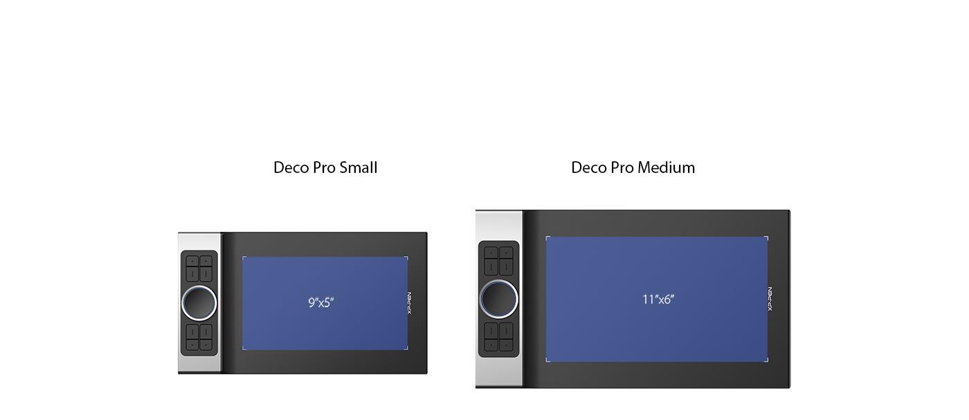 XP-Pen Deco Pro Tableta gráfica Con área activa de 9x5 Pulgadas y 11x6 Pulgadas