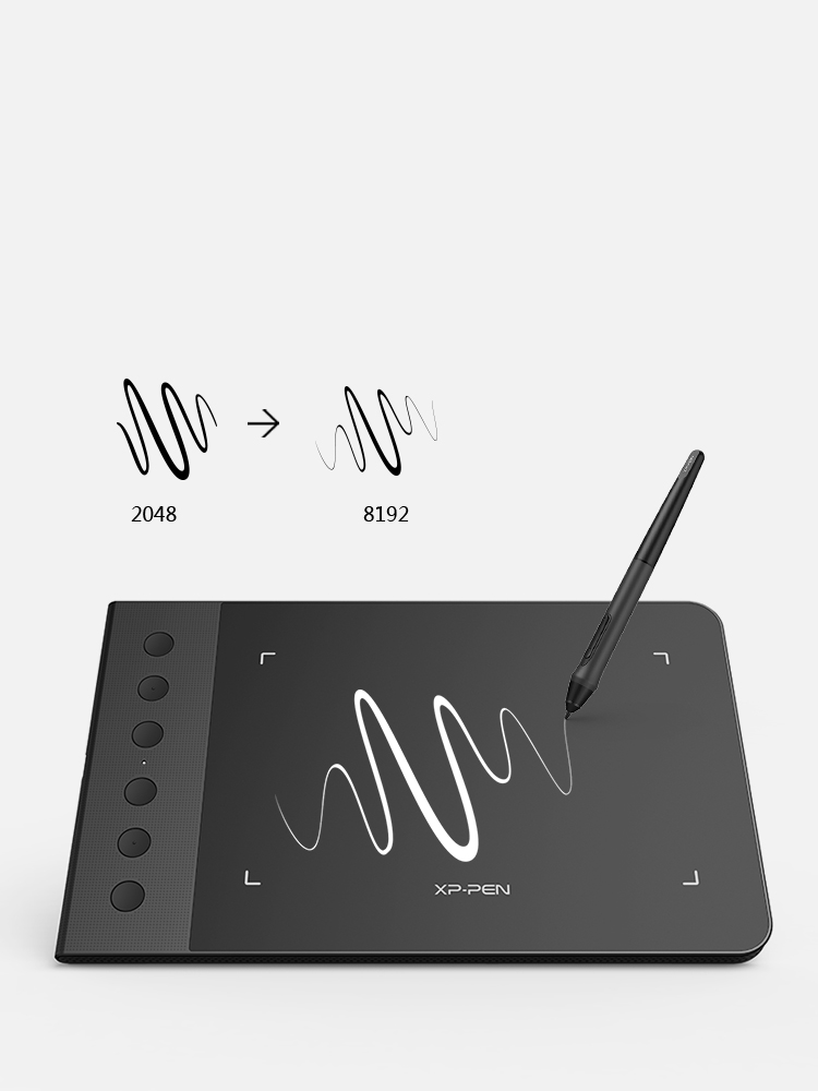 XP-Pen Star G640S Tableta de dibujo digital con 8192 niveles de presión