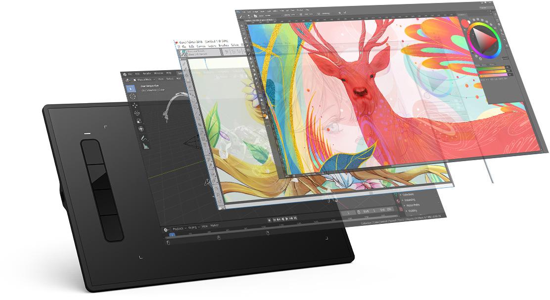 XP-Pen Star G960S y Star G960S Plus compatible con Windows , MAc OS y software de arte digital popular